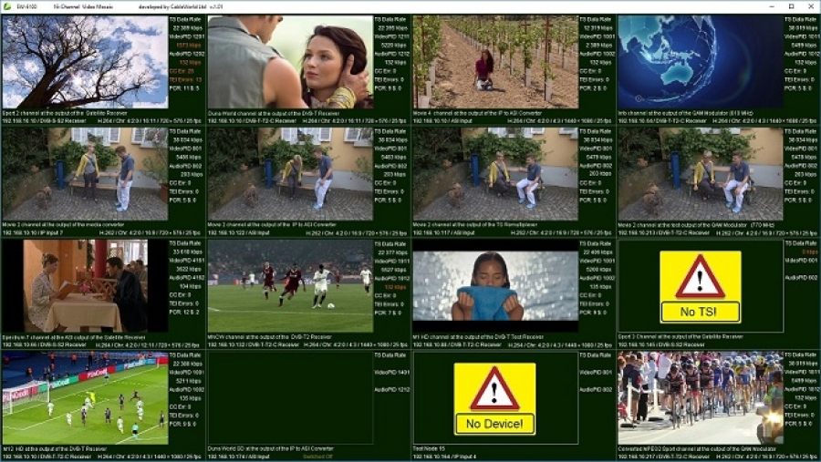 Video Mosaic Szoftver a Personal Stream Toolhoz